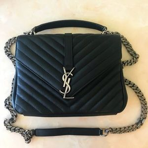 YSL YVES SAINT LAURENT MEDIUM COLLEGE BAG